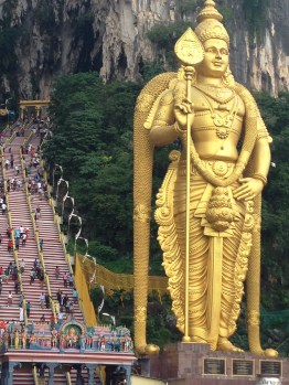The stairs to the Batu Caves was a sweaty climb.