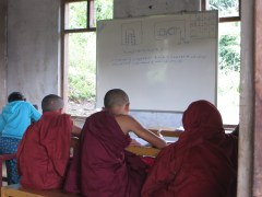These young monks are hard at work. One of our guides told us that there are over 1 million monks in Myanmar.