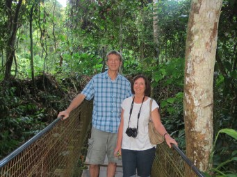After getting back from Langkawi, Randy and Bev joined us in KL and we quickly took a flight to the rain forests of Borneo.