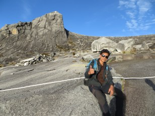 Here's our guide Aslan. Cool dude. He's hiked the mountain everyday for 35 days and he smokes a pack a day.