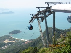 A view from the top of the gondola on Langkawi island.