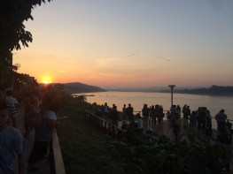 A sunset and bike ride on the Mekong River.