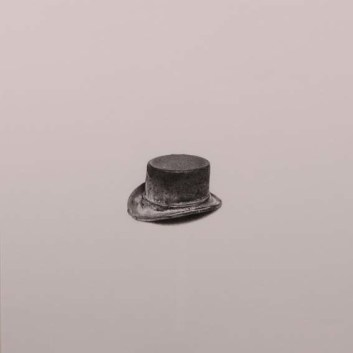 """Top Hat"" Wax pencil on card, Sold"