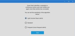 RVD Alert settings