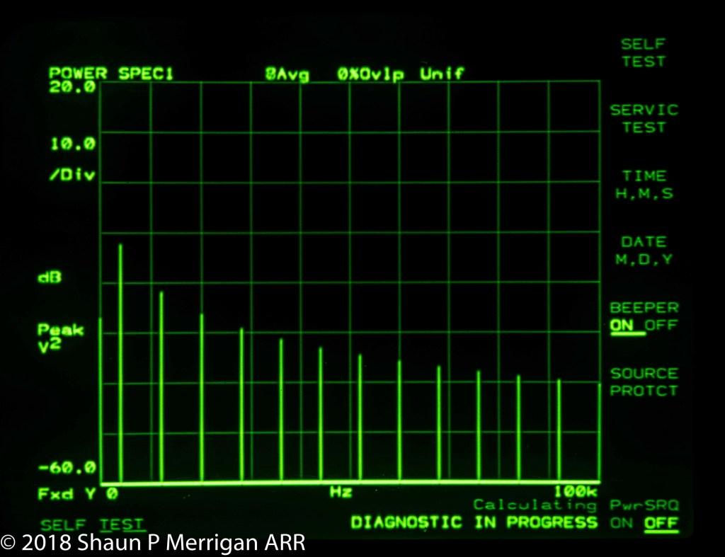 HP 3256A CRT Diagnostic in Progress