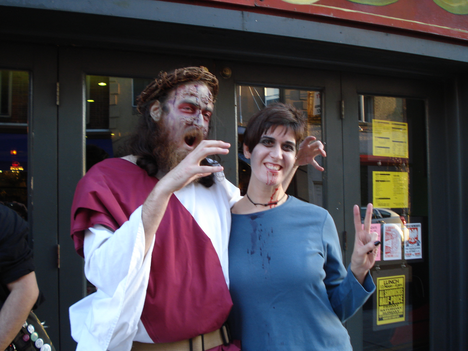 I found Jesus! He didn't eat my brain, but he did steal Nicole's heart, I think...