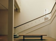 Bench and stairs at AIC without intruder (Flickr)