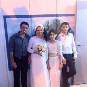 Rachel with their children