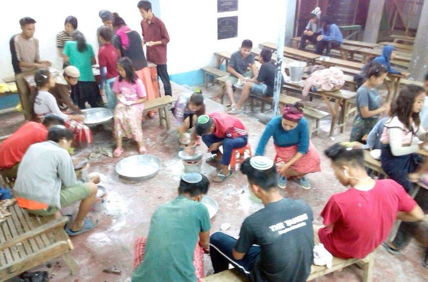Matza baking in Manipur 2