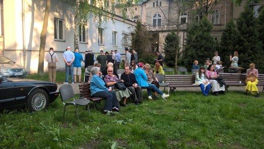 mincha during Lag Baomer in Lodz
