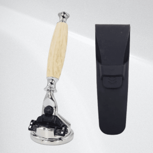 Shave Shop Custom Mach 3 Razor Handle and Stand (Light Wood)
