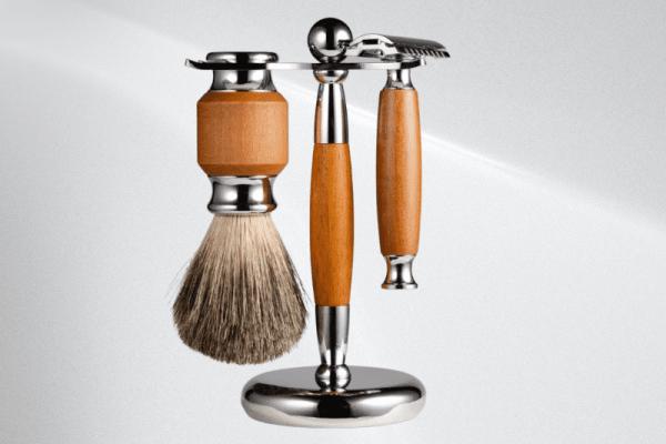 Custom Shaving Stand Set Piece with safety Razor