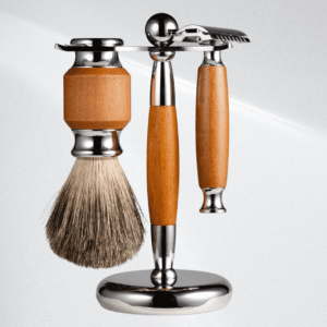Custom Shaving Stand Set Piece with safety Razor