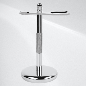 Shave Shop Chrome Shaving Razor and Brush stand