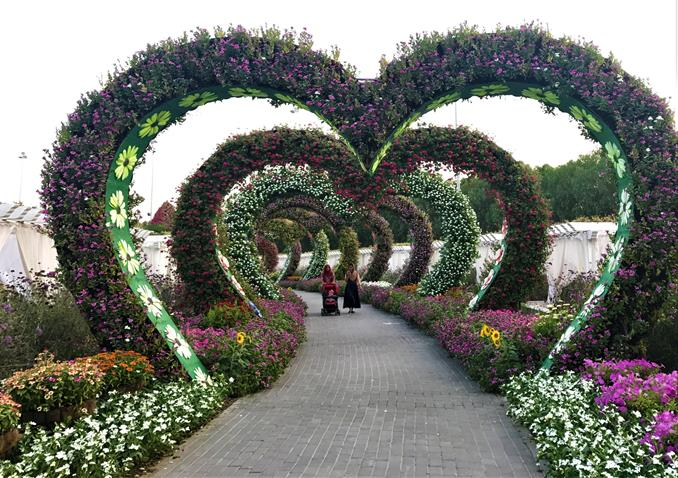The miracle garden, It's an overwhelming walk in this beautiful garden