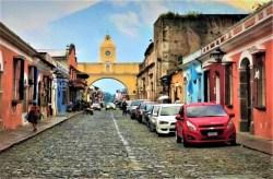 Beautiful renowned arch of Antigua Guatemala