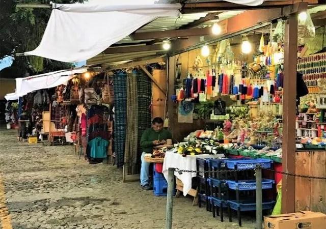 Souvenirs market in Antigua Guatemala