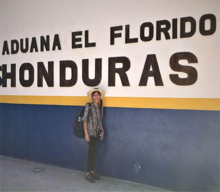 Crossing the border from Guatemala to Copan Honduras