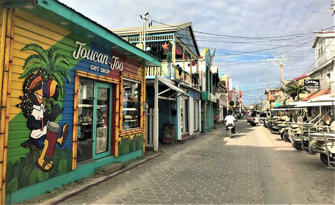 San Pedro downtown, Ambergris Caye Belize