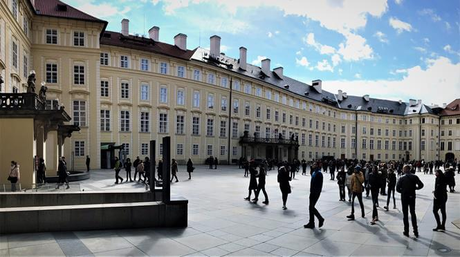 The castle courtyard in Prague