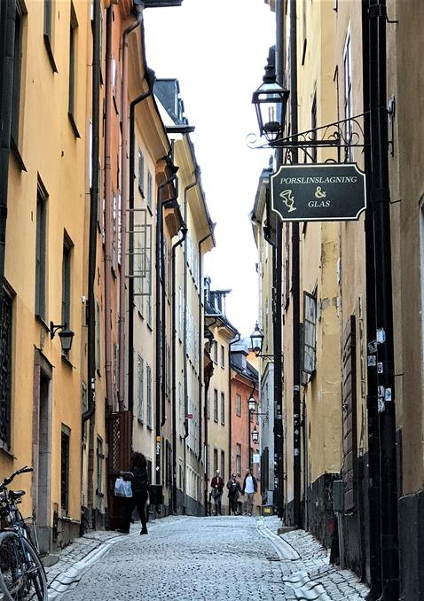 One of the narrow street at Gamla Stan- Stockolm, Sweden