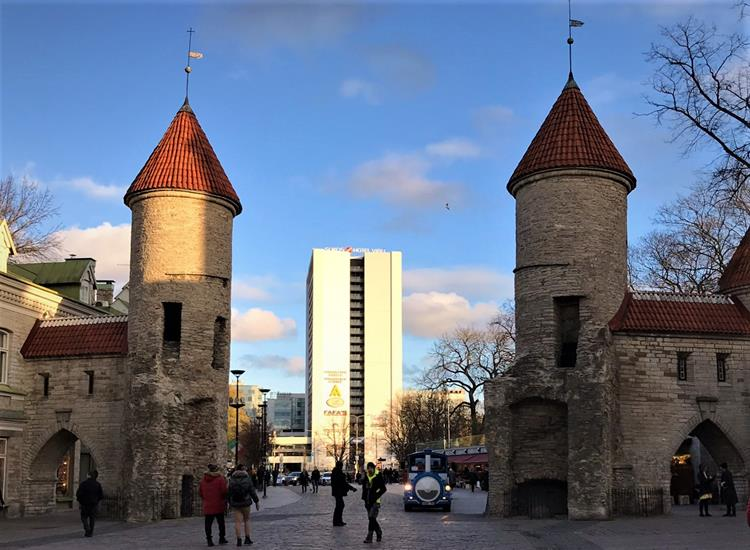 VIru Gate, the medieval wall of Tallinn