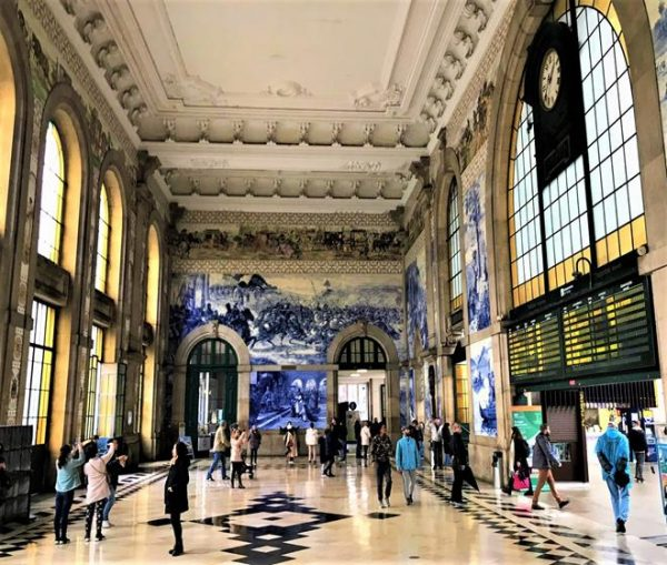 Mural Artwork Inside Porto train station Sao Bento