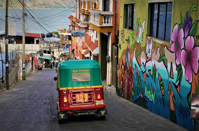 The colorful tuk-tuk of San Pedro
