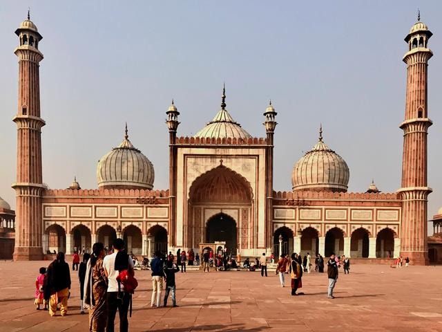 The Jama Masjid, the biggest mosque in India