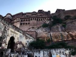 The massive Mehrangarh Fort in Jodhpur