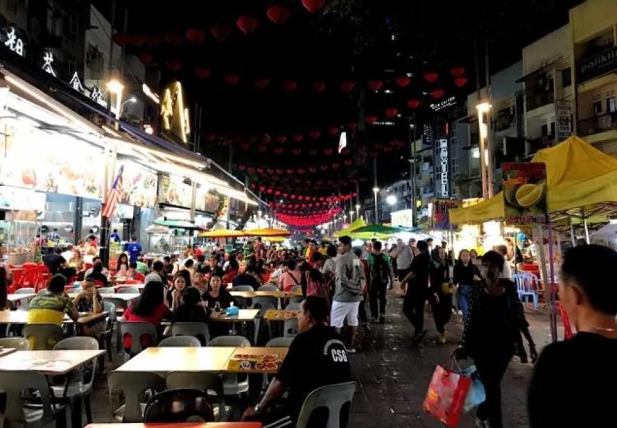 Bukit Bintang food street Jalan Alor