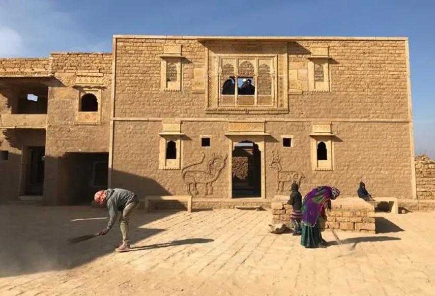 The ghost town of Kuldhara near Jaisalmer