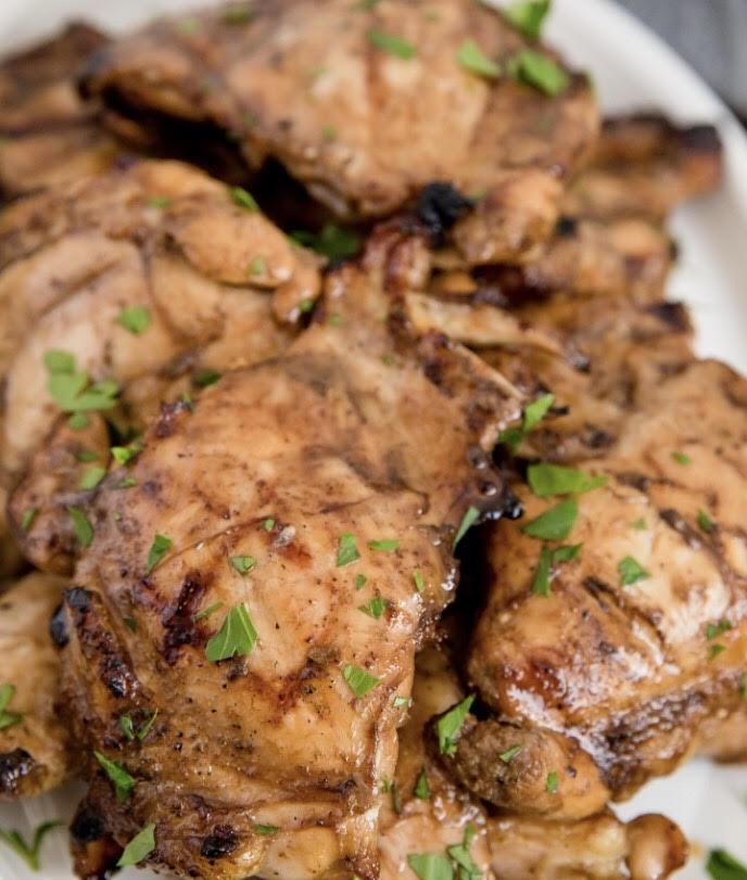 Jalapeno Peach Balsamic Marinated Chicken