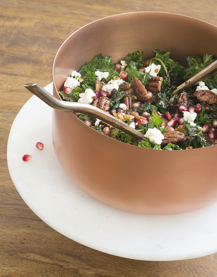 Kale Salad with Balsamic Fig Dressing
