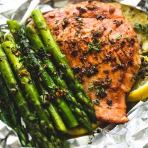 Grilled Salmon Foil Pack