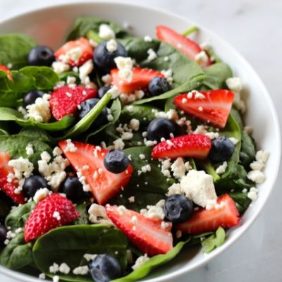 Sweet Strawberry & Greens Salad
