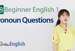 Be Verb Pronoun Questions