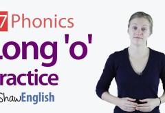 Long 'o' Vowel Practice