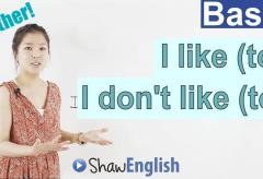 I like (to) / I don't like (to)
