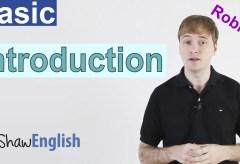 Basic English Introduction