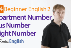 How to Express English Apartment / Bus / Flight Numbers