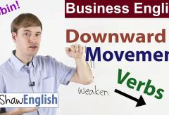 Business English: Downward Movement Verbs