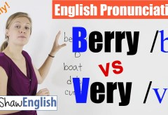 Berry /b/ vs. Very /v/ English Pronunciation