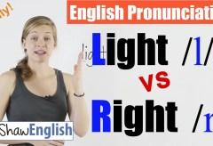 Light /l/ vs. Right /r/ English Pronunciation