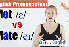 Met /ɛ/ vs Mate /eɪ/ English Pronunciation