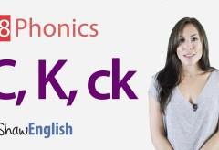 Consonants 'c', 'k' and 'ck'