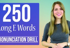 250 Words | Long E Vowel Sound /i:/ | Learn English Pronunciation | Practice Drill