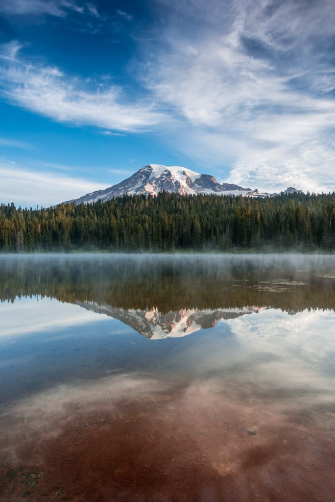 Sunrise over Reflection Lake, Mt Rainier National Park