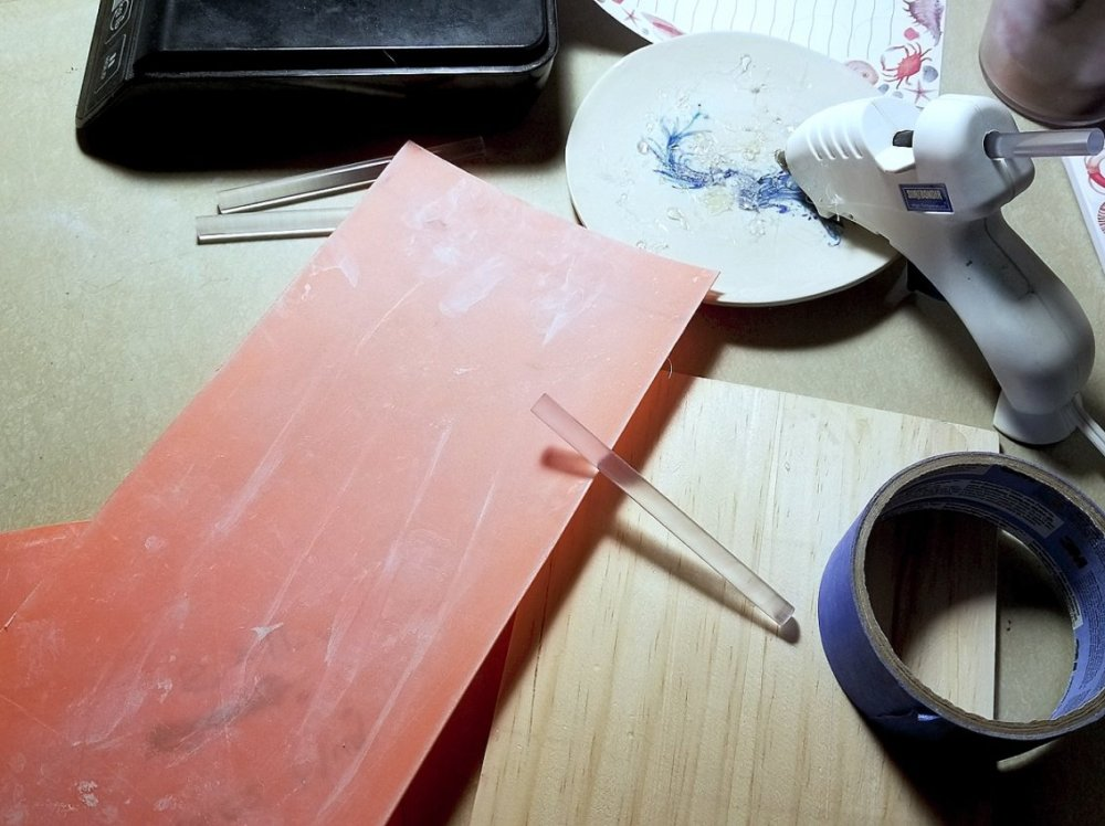 Materials used for making a reusable mold box