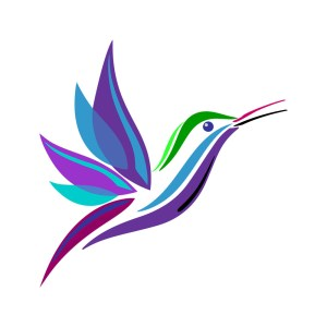 Stylized Hummingbird Graphic